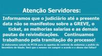 O SISEP RIO informa que está à disposição dos servidores e principalmente para defender os grevistas descontados, tendo criado o fundo de greve para auxiliá-los. O Sindicato está à disposição, […]